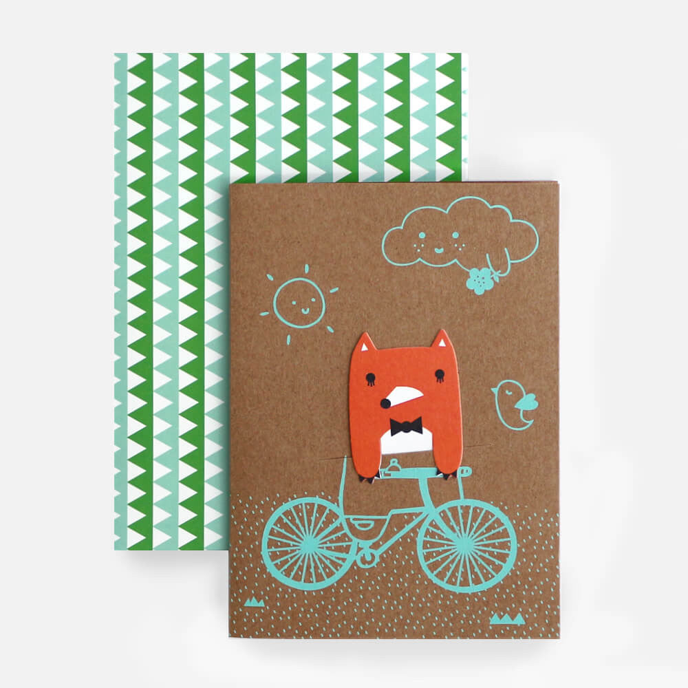 Bike Field Bookmark Greetings Card by NooDoll - Junior Edition  - 3