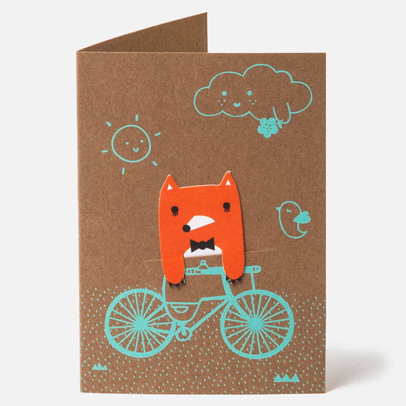 Bike Field Bookmark Greetings Card by NooDoll - Junior Edition  - 4