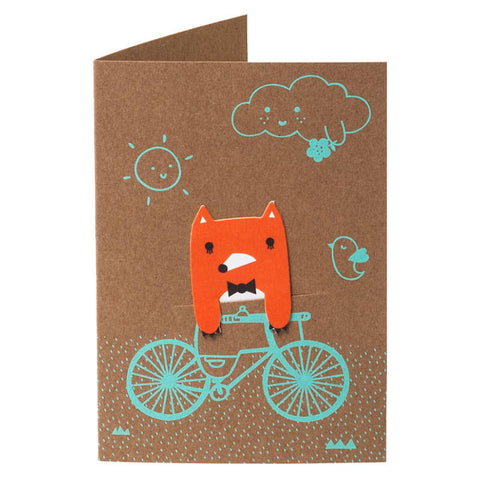 Bike Field Bookmark Greetings Card by NooDoll - Junior Edition  - 1