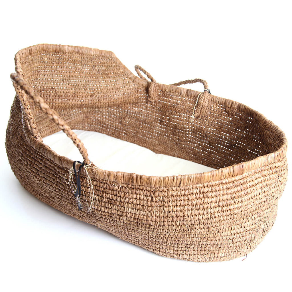 Handmade Moses Basket in Natural by Noro - Junior Edition