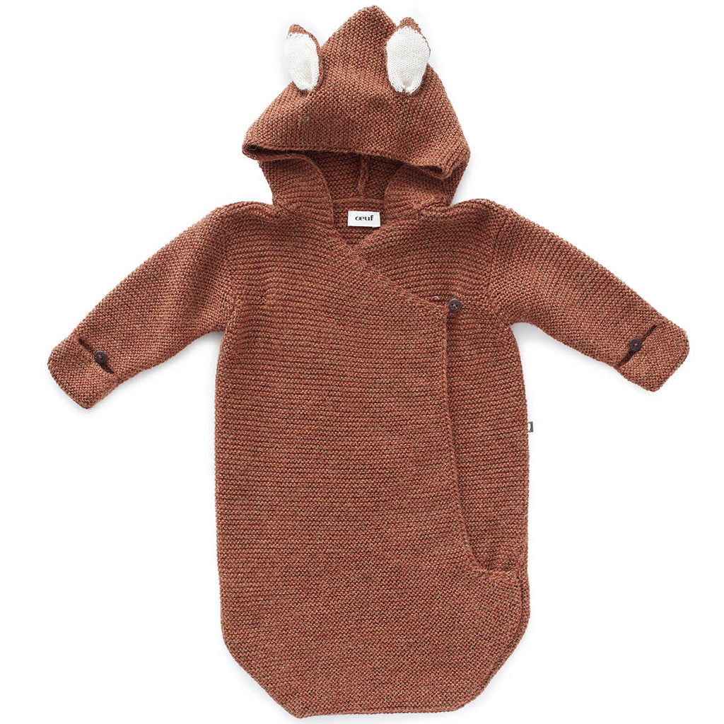 Bambi Alpaca Knit Baby Wrap in Hazelnut by Oeuf NYC - Junior Edition