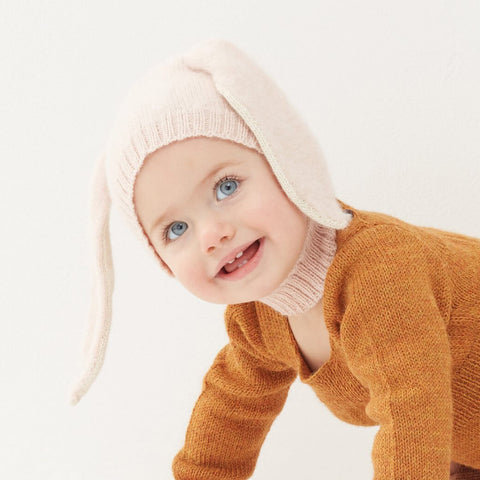 ... Alpaca Knit Bunny Hat In Light Pink by Oeuf NYC - Junior Edition 25f2307d43b