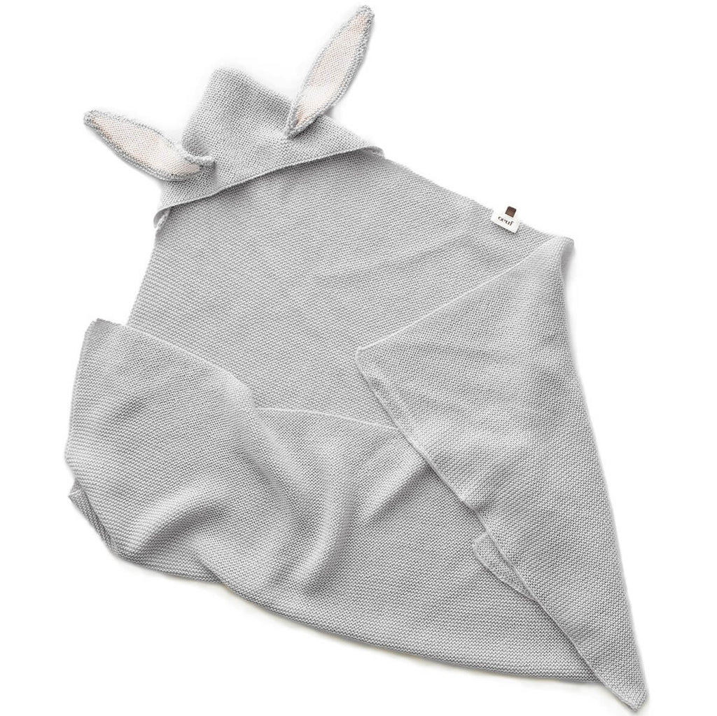 Alpaca Bunny Blanket in Light Grey by Oeuf NYC - Junior Edition