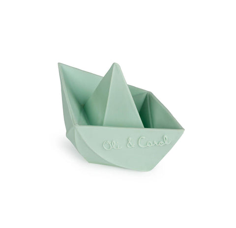 Origami Boat in Mint by Oli & Carol - Junior Edition
