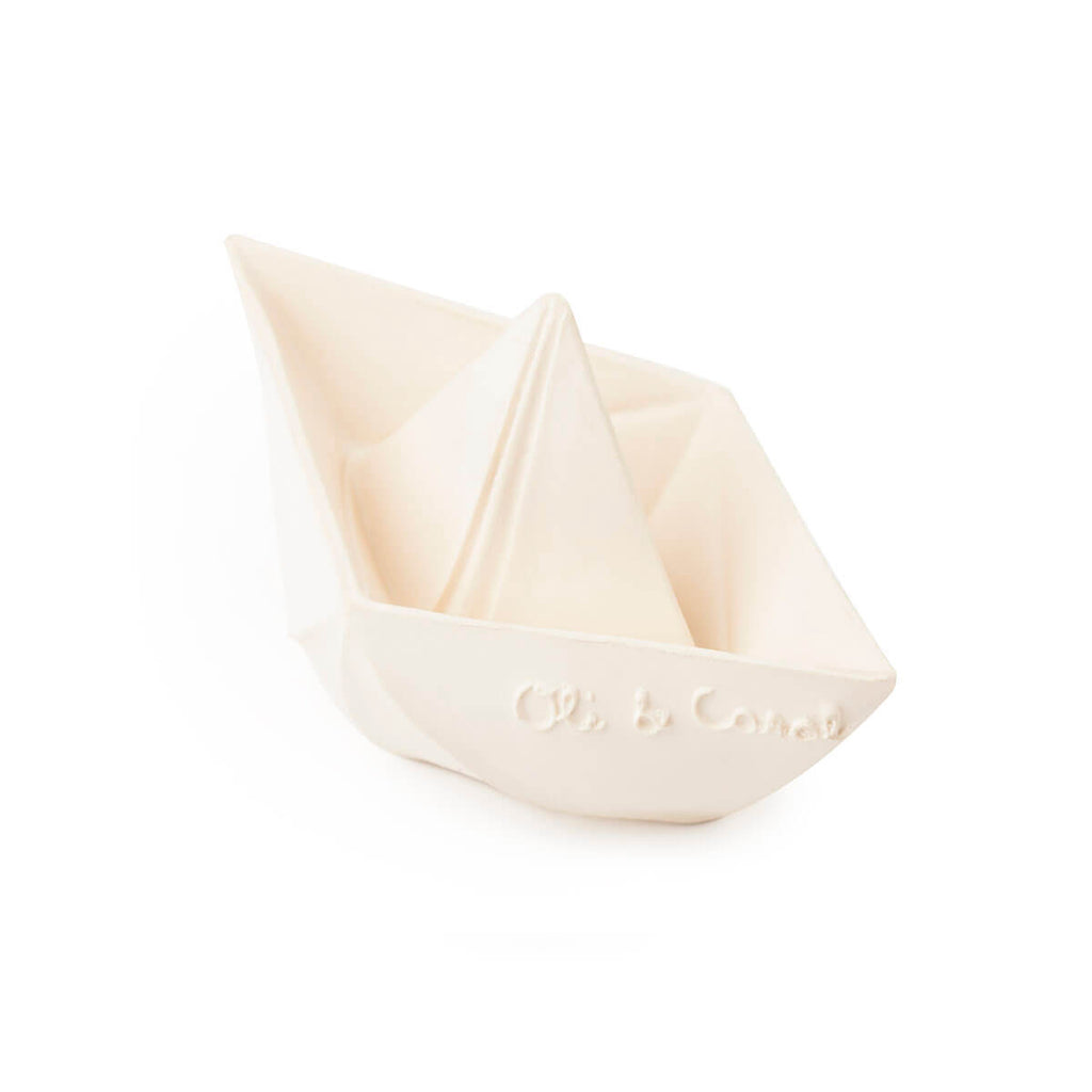 Origami Boat in White by Oli & Carol - Junior Edition