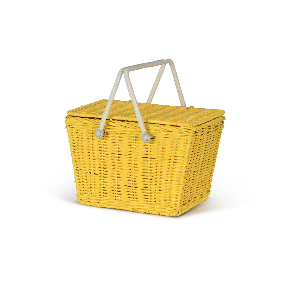 Piki Basket in Yellow by Olli Ella - Junior Edition