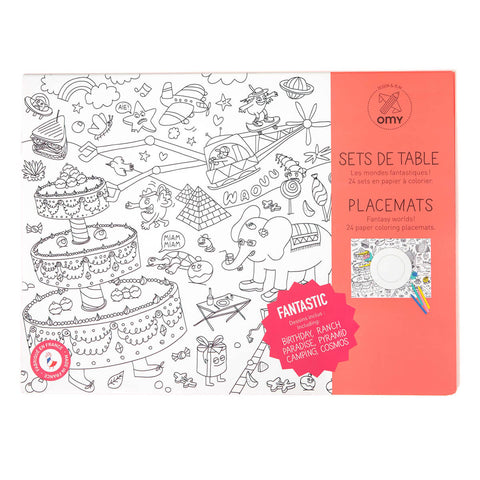 Fantastic Colouring Placemats by OMY - Junior Edition