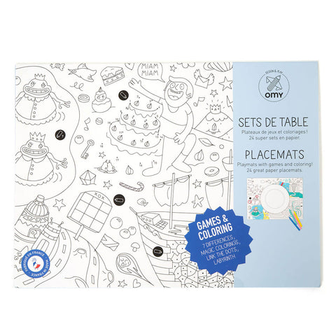 Games Colouring Placemats by OMY - Junior Edition
