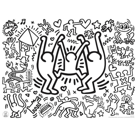 Keith Haring Colouring Placemats by OMY - Junior Edition