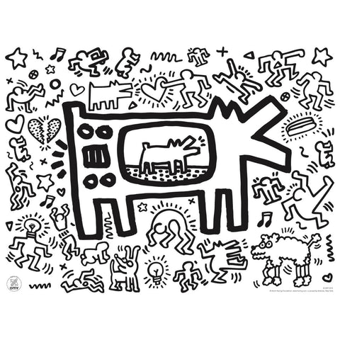 Keith Haring Colouring Placemats by OMY – Junior Edition