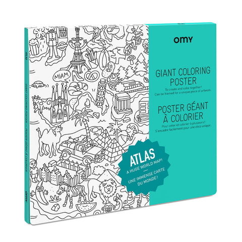 Atlas Giant Colouring Poster by OMY