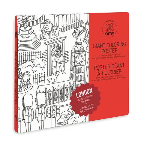 London Giant Colouring Poster by OMY