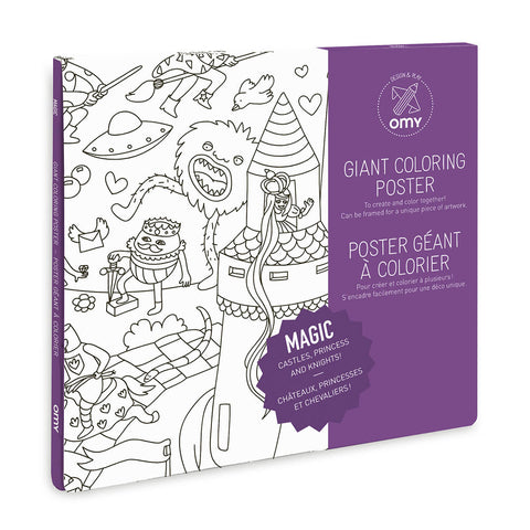 Magic Giant Colouring Poster by OMY - Junior Edition