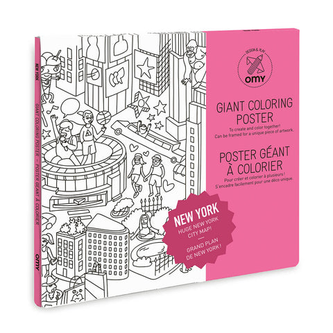 New York City Giant Colouring Poster by OMY