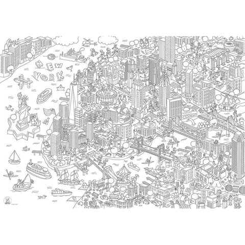 New York City Giant Colouring Poster by OMY – Junior Edition