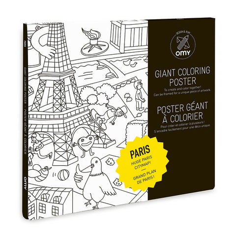 Paris Giant Colouring Poster by OMY - Junior Edition