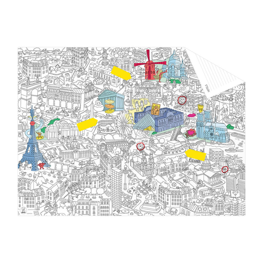 Paris Colouring Pocket Map by OMY - Junior Edition