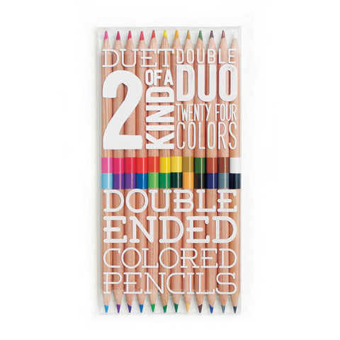 2 Of A Kind Coloured Pencils by Ooly - Junior Edition