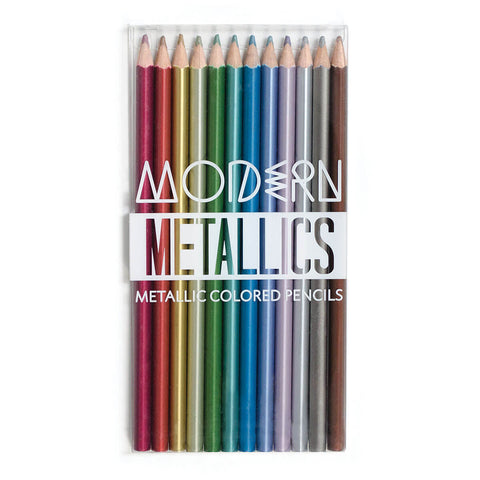 Modern Metallics Coloured Pencils by Ooly - Junior Edition