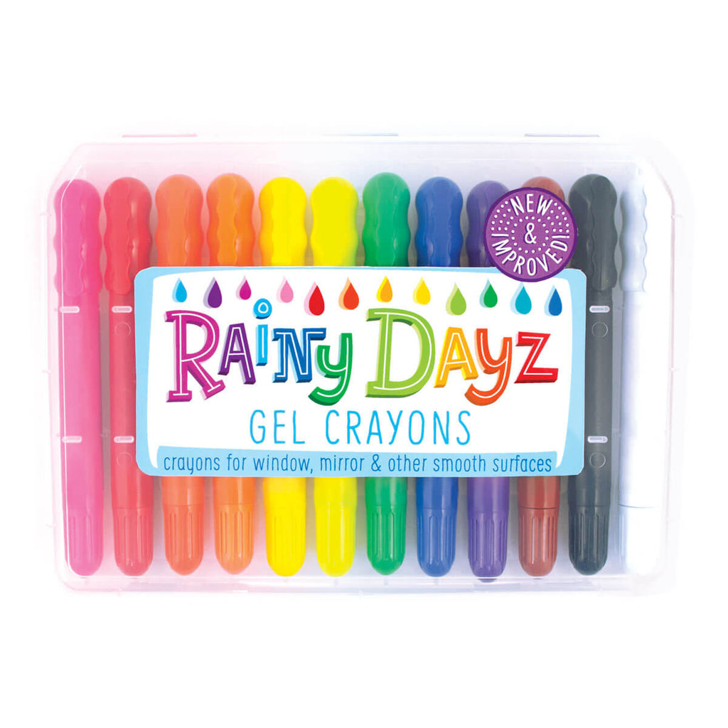 Rainy Dayz Gel Crayons by Ooly - Junior Edition