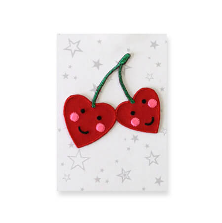 Cherries Iron On Patch by Petra Boase - Junior Edition
