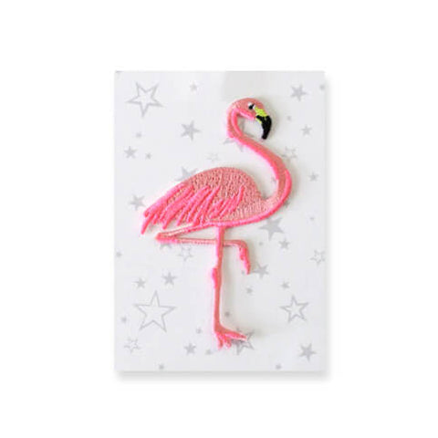 Flamingo Iron On Patch by Petra Boase - Junior Edition