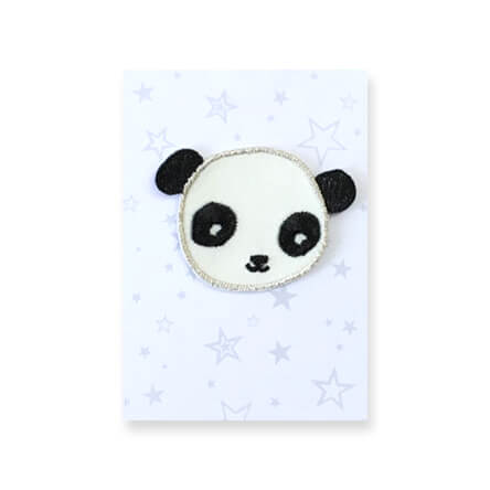 Panda Iron On Patch by Petra Boase - Junior Edition