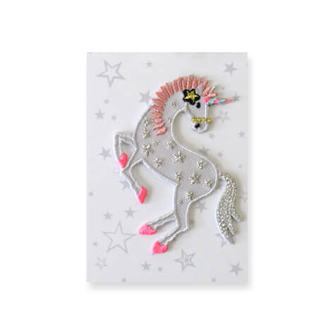 Unicorn Stars Iron On Patch by Petra Boase - Junior Edition