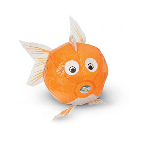 Orange Fish Japanese Paper Balloon by Petra Boase - Junior Edition