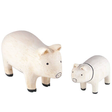 Pig Family - Polepole Wooden Oyako by T-Lab - Junior Edition