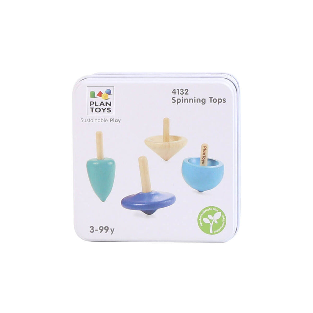 Mini Spinning Tops Set by PlanToys - Junior Edition