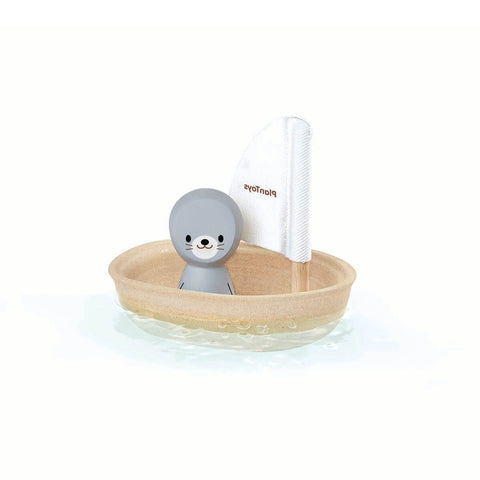 Sailing Boat with Seal by PlanToys