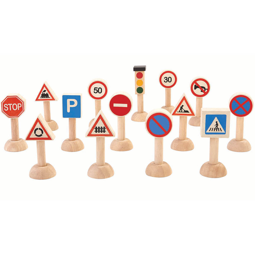 Traffic Sign Set  by PlanToys - Junior Edition