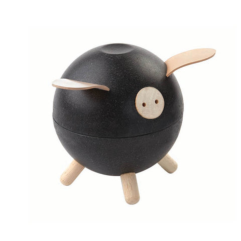 Piggy Bank in Black by PlanToys - Junior Edition