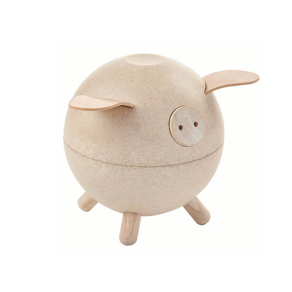 Piggy Bank in White by PlanToys - Junior Edition
