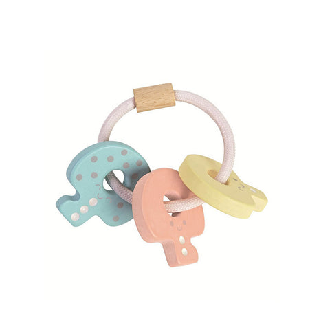 Pastel Baby Key Rattle by PlanToys - Junior Edition