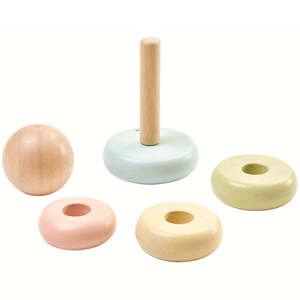 Pastel Stacking Rings by PlanToys - Junior Edition