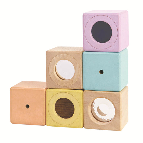Pastel Sensory Blocks by PlanToys - Junior Edition