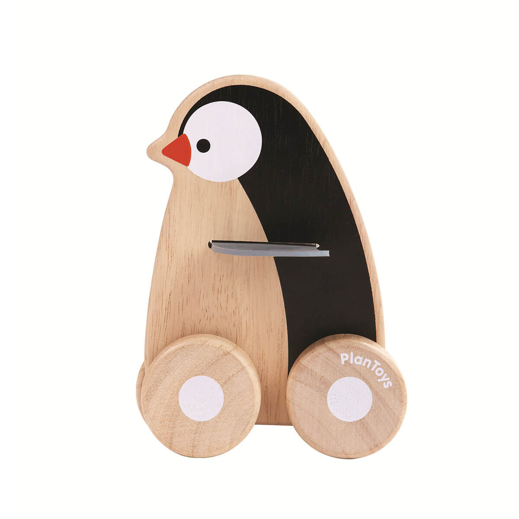 Penguin Wheelie Toy by PlanToys - Junior Edition