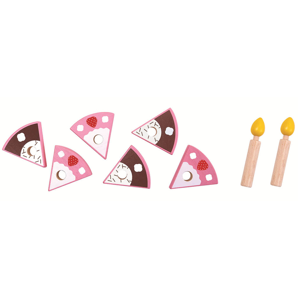 Birthday Cake Wooden Play Set by PlanToys - Junior Edition