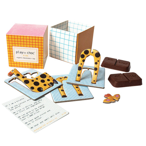 Endangered Animals Organic Chocolate And Surprise Toy by Playin Choc - Junior Edition