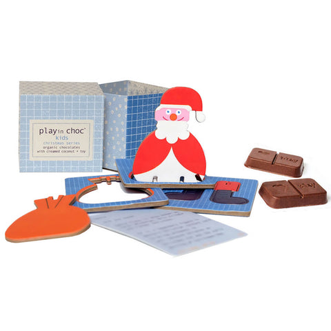 Christmas Series Organic Chocolate And Surprise Toy by Playin Choc