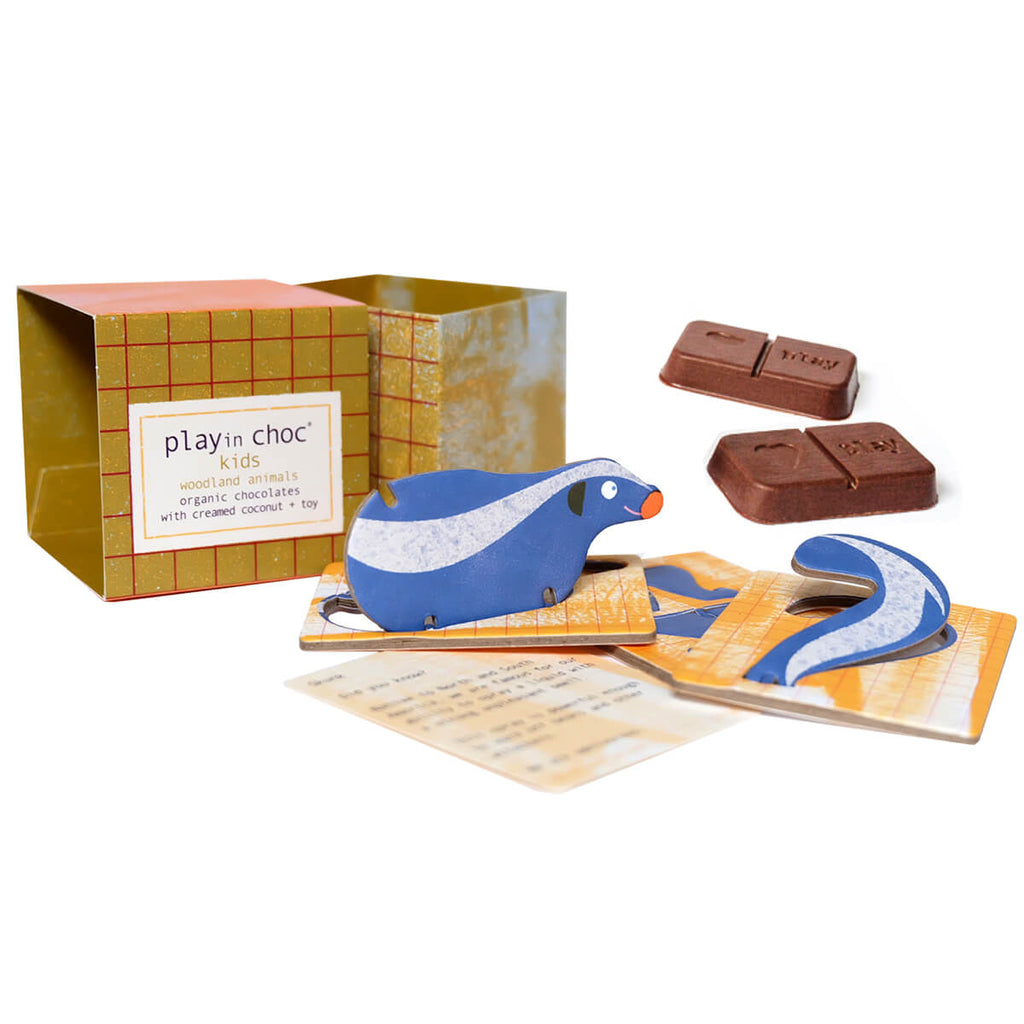 Woodland Animals Organic Chocolate And Surprise Toy by Playin Choc - Junior Edition