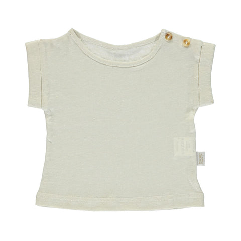 Bourrache Linen T Shirt in Almond Milk by Poudre Organic