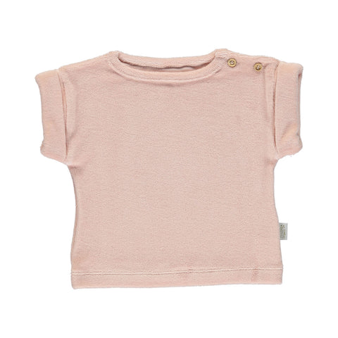 Laurier Terry T Shirt in Evening Sand by Poudre Organic