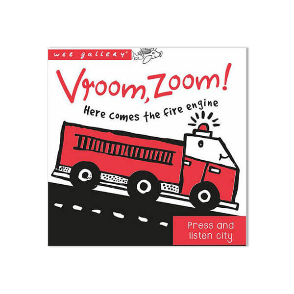 Press And Listen Book: Vroom, Zoom! Here Comes The Fire Engine by Surya Sajnani - Junior Edition