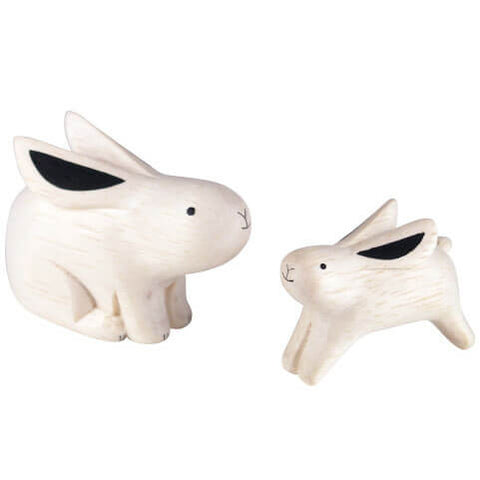 Rabbit Family - Polepole Wooden Oyako by T-Lab - Junior Edition