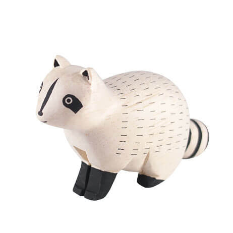 Raccoon - Polepole Wooden Animal by T-Lab - Junior Edition  - 1