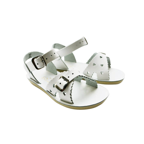Sweetheart Sandals in White by Salt-Water
