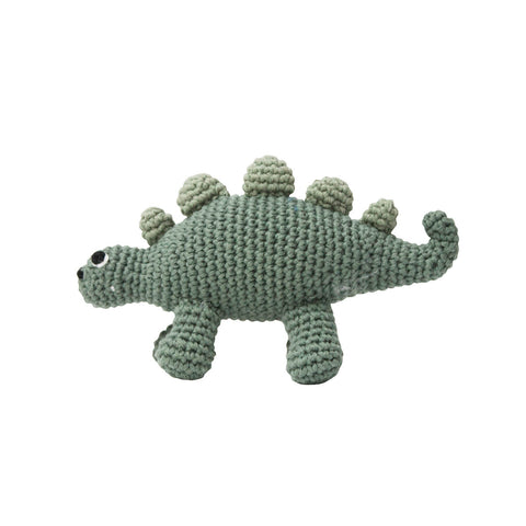 Dinosaur Crochet Baby Rattle by Sebra - Junior Edition